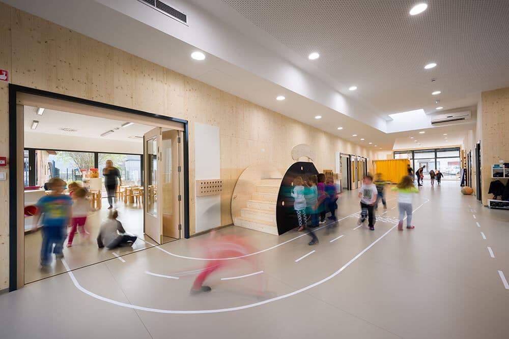 clt massiv holz kindergarten podgorje lesoteka hi e. Black Bedroom Furniture Sets. Home Design Ideas