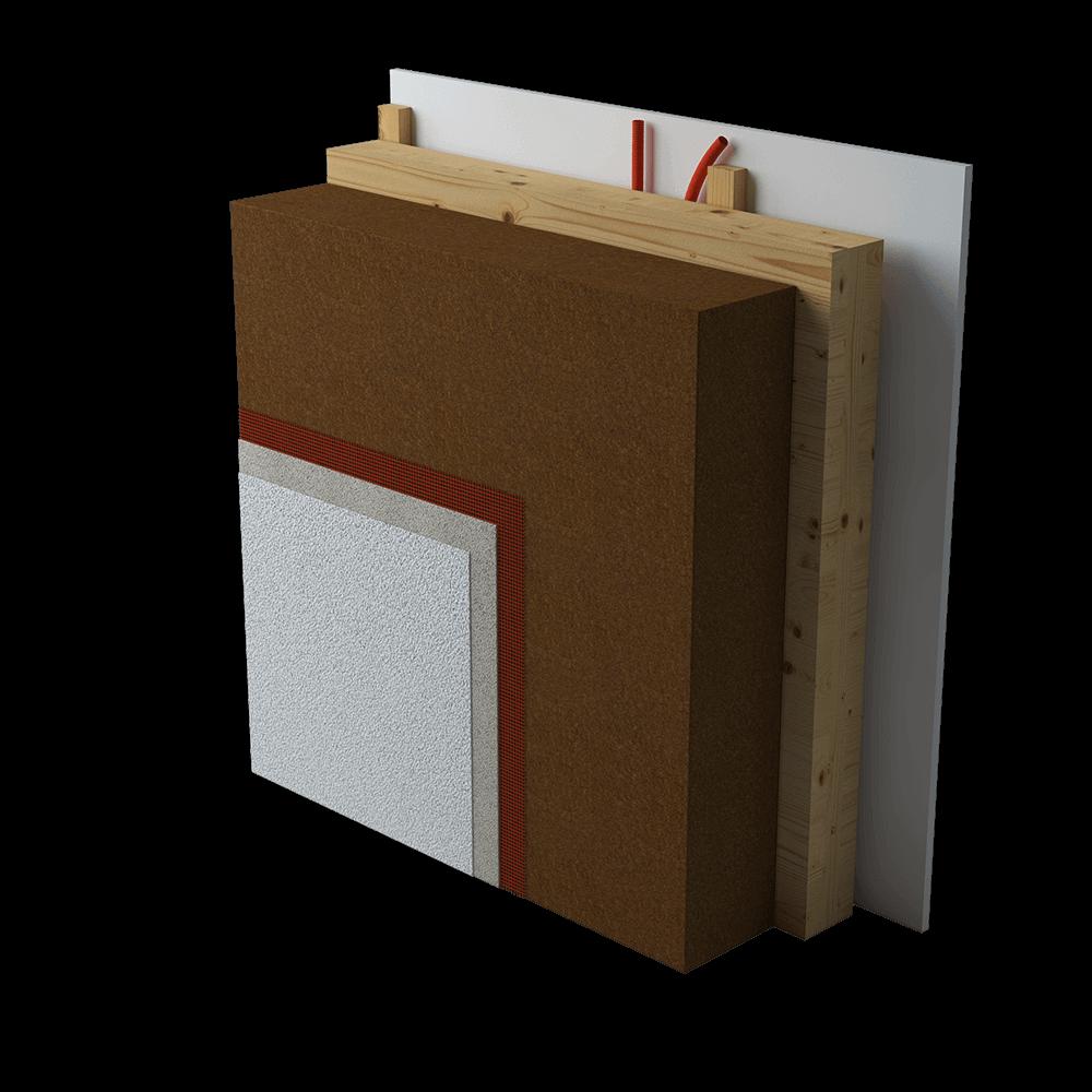 Lesoteka hiše | CLT masivna lesena stena in izolacija iz lesenih vlaken